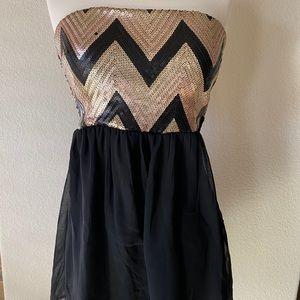 NWT! Black and Gold Dress